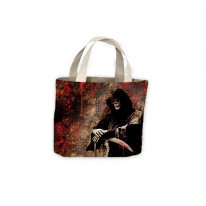 Skeleton Grim Reaper Blood Tote Shopping Bag For Life