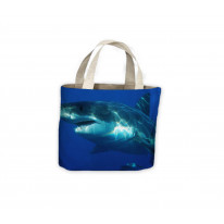 Great White Shark Jaws Tote Shopping Bag For Life