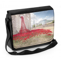 Tower of London Poppies Window View Laptop Messenger Bag