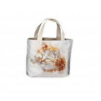 Ginger Cat Drawing Tote Shopping Bag For Life
