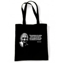 Gandhi Vegetarian Quote Shoulder Bag