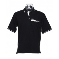Motown Text Logo Tipped Polo T-Shirt
