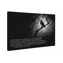 The Raven Edgar Allan Poe Box Canvas Print Wall Art - Choice of Sizes