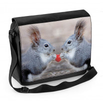 Squirells with Love Heart Laptop Messenger Bag