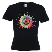 Psychedelic CND Symbol Women's T-Shirt