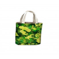 Camouflage Cannabis Leaves Tote Shopping Bag For Life