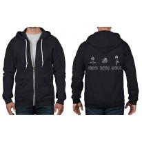 Mind Body Soul Yoga Full Zip Hoodie