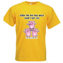 Big Bad Wolf Men's Vegetarian T-Shirt