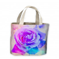 Abstract Rose Tote Shopping Bag For Life