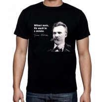 Nietzsche Music Quote Mens T-Shirt