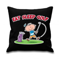 Eat Sleep Golf Mens Sofa Cushion