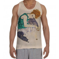 Egon Schiele The Seated Woman Men's All Over Graphic Vest Tank Top