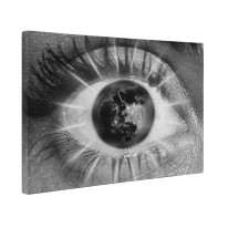 Abstract Eye with Moon Box Canvas Print Wall Art - Choice of Sizes