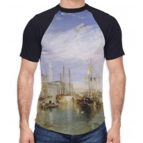 William Turner Grand Canal Venice Men's All Over Graphic Contrast Baseball T Shirt