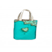 Heart Shaped Island Sea Tote Shopping Bag For Life