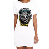 Hip Hop Dope Bear Women's T-Shirt Dress