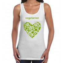 Vegetarian Heart Logo Women's Tank Vest Top