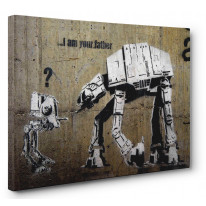 Banksy I Am Your Father Box Canvas Print Wall Art - Choice of Sizes
