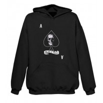 Ace Of Spades Skull Pouch Pocket Hoodie