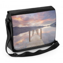 Derwent Water Keswick Lake District Jetty Laptop Messenger Bag