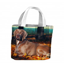 Weimaraner Dog In Autumn Forest Tote Shopping Bag For Life