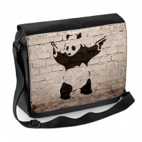 Banksy Panda Laptop Messenger Bag
