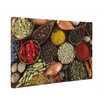Indian Spices Box Canvas Print Wall Art - Choice of Sizes