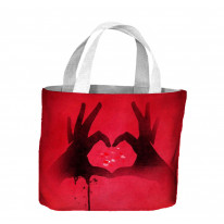 Love Heart Symbol with Hands Tote Shopping Bag For Life