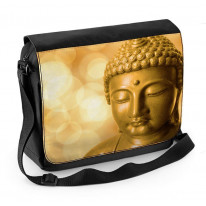 Buddha Golden Head Laptop Messenger Bag