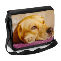 Beagle Face Close Up Laptop Messenger Bag