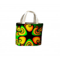 Psychedelic Pattern Tote Shopping Bag For Life