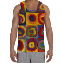 Wassily Kandinksy Colour Study Squares Men's All Over Graphic Vest Tank Top
