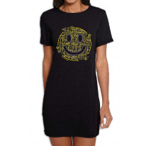 Electric Smiley Acid Face Women's T-Shirt Dress
