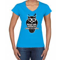 Night Owl Northern Soul Logo Women's V Neck T-Shirt