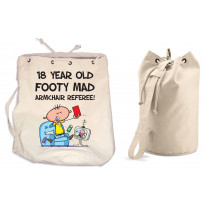 Footy Mad Armchair Referee Men's 18th Birthday Present Duffle Backpack Bag