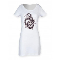 Skull & Snake Tattoo Short Sleeve T Shirt Dress