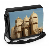 Anton Gaudi Casa Mila Chimneys Barcelona Laptop Messenger Bag