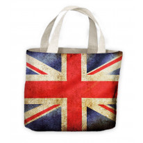 Union Jack Flag Tote Shopping Bag For Life