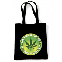 Marijuana Medical Use Only Tote Shoulder Shopping Beach Bag