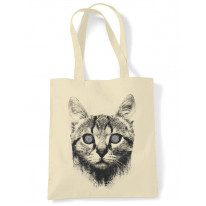 Hypnotized Kitten Cat Tote Shoulder Shopping Bag
