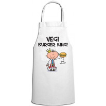 Vegi Burger King Vegetarian Chef Kitchen Apron