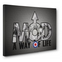 Mod A Way Of Life Canvas Print Wall Art - Choice Of Sizes