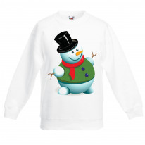 Christmas Snowman Kids Jumper \ Sweater