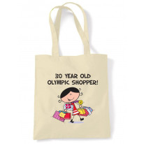 30 Year Old Olympic Shopper 30th Birthday Tote Bag