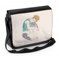 Egon Schiele Seated Woman With Bent Knee Laptop Messenger Bag