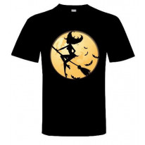Witch On Broomstick T-Shirt
