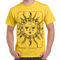 Sun Design Large Print Men's T-Shirt