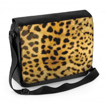 Leopard Skin Pattern Laptop Messenger Bag