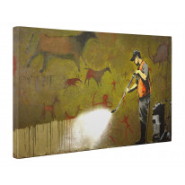 Banksy Cave Paintings Box Canvas Print Wall Art - Choice of Sizes