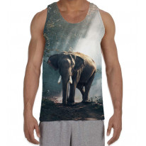 Elephant in Forest Men's All Over Graphic Vest Tank Top